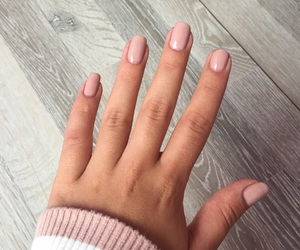 light pink, nail polish, and nails image