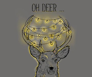 animal, christmas, and deer image
