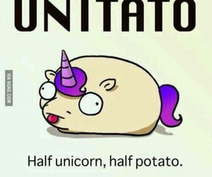 unicorn, potato, and unitato image
