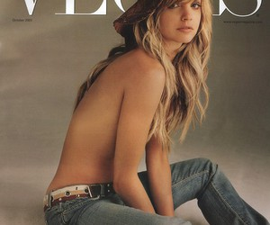 magazine cover, mena suvari, and topless image