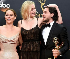 sophie turner, game of thrones, and emilia clarke image