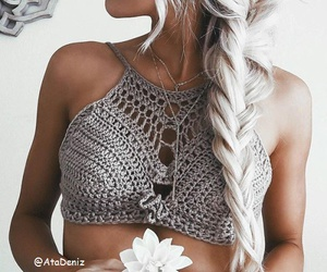 chains, hair, and hair style image
