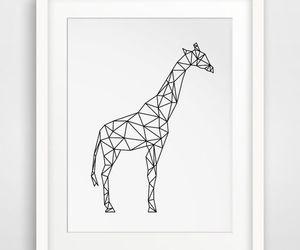 geometric animal, geometric giraffe, and girafa geométrica image