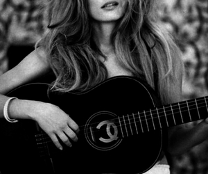 guitar, model, and chanel image