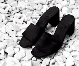 black, fashion, and suede image