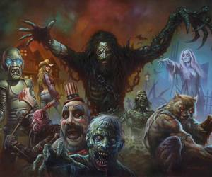art, horror, and rob zombie image