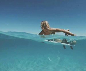 surf, ocean, and boy image