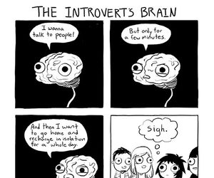 funny, introvert, and comic image