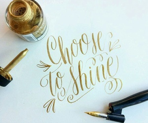 calligraphy and gold image
