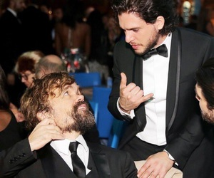 game of thrones, jon snow, and peter dinklage image