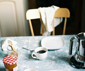 coffee, vintage, and breakfast image