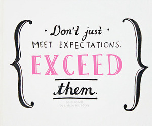 quote, expectations, and inspiration image