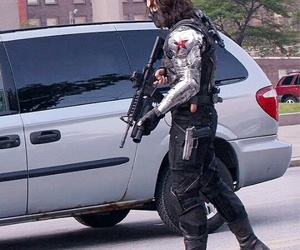 boy, bucky, and captain america image