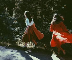 dress, girls, and photo image