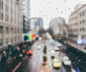 city, beautiful, and rain image