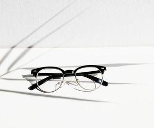 black, white, and glasses image
