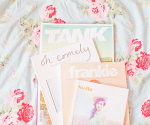 magazine and pastel image