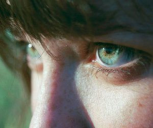 eyes, photography, and green image