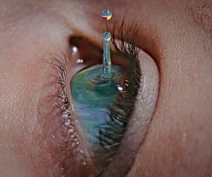 eye, eyes, and water image