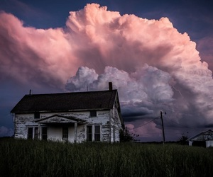 clouds, home, and house image