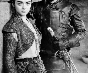jon snow, got, and arya stark image