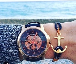 watch, anchor, and blue image