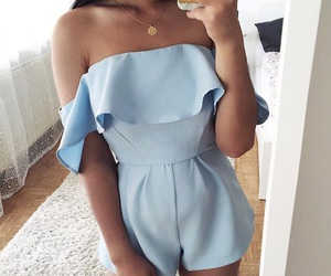 blue, clothes, and cute image