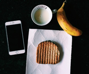 banana, breakfast, and cafe da manha image