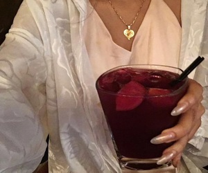 drink, fashion, and nails image