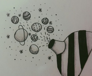 drawing, planet, and tumblr image
