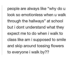 class, flowers, and funny image