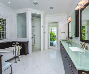 bathroom, design, and bath image