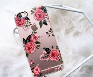 iphone, rose, and apple image