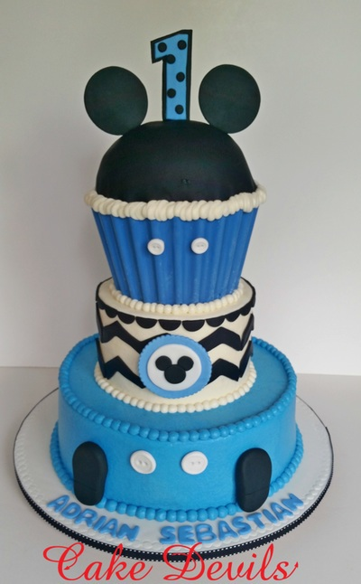 Prime Baby Mickey Mouse Cake Shared By Cake Devils On We Heart It Personalised Birthday Cards Sponlily Jamesorg