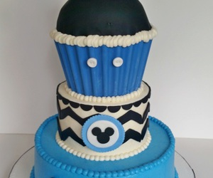 birthday cake, mickey mouse, and 1st birthday image