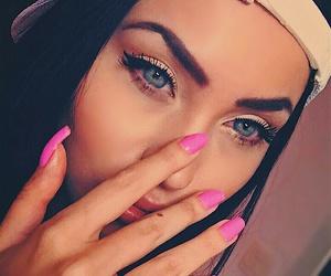 beauty, cap, and pink nail image