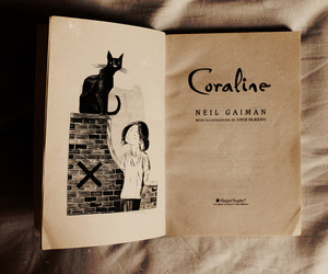 book, reading, and coraline image