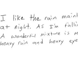 rain, quote, and night image