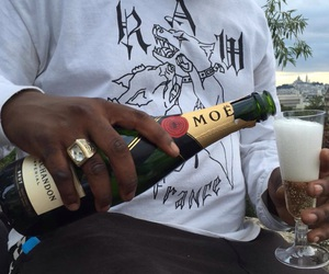ghetto, beach, and champagne image