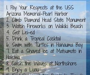 hawaii, to do list, and Oahu image