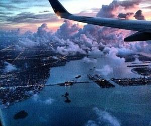 travel, sky, and plane image