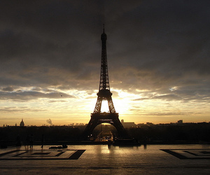 eiffel tower, france, and europe image