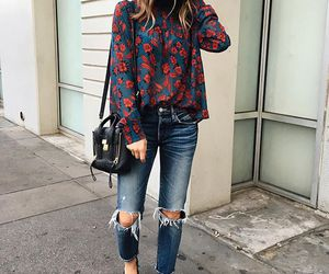 button up, fashion, and floral image