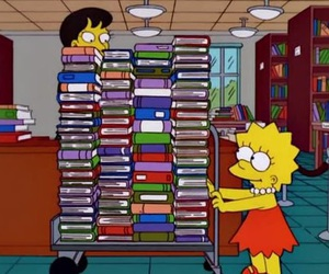 book, lisa, and library image