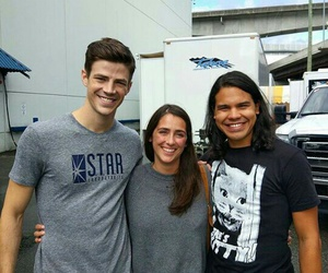 fan, grant gustin, and carlos valdes image