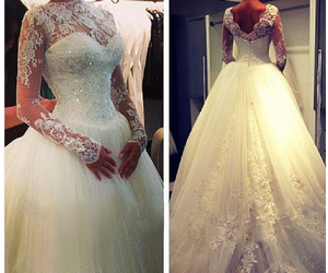sweep train wedding dress image