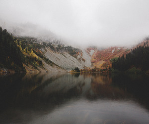 autum, lake, and forest image