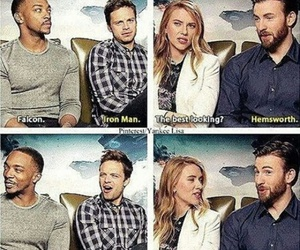 chris evans, funny, and chris hemsworth image