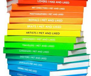 books, colors, and rainbow image