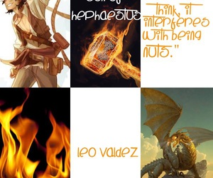 fire, percy jackson, and hephaestus image